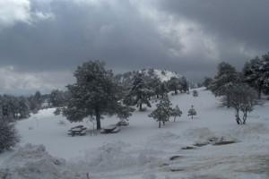 Nieve en Santiago-Pontones
