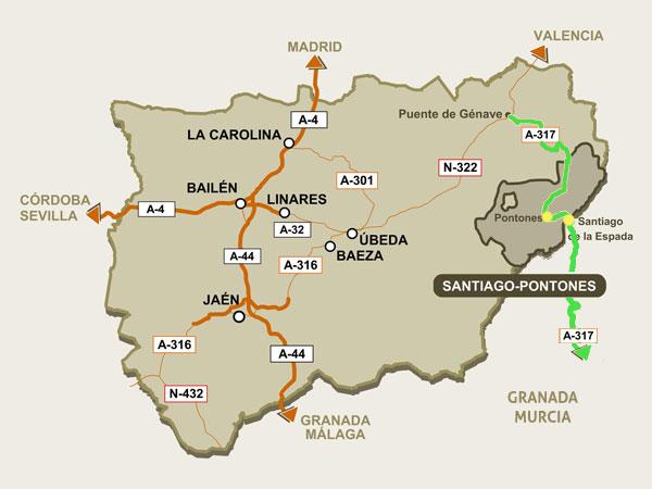Mapa localización Santiago-Pontones