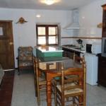 Salón cocina Alojamiento La Ventilla